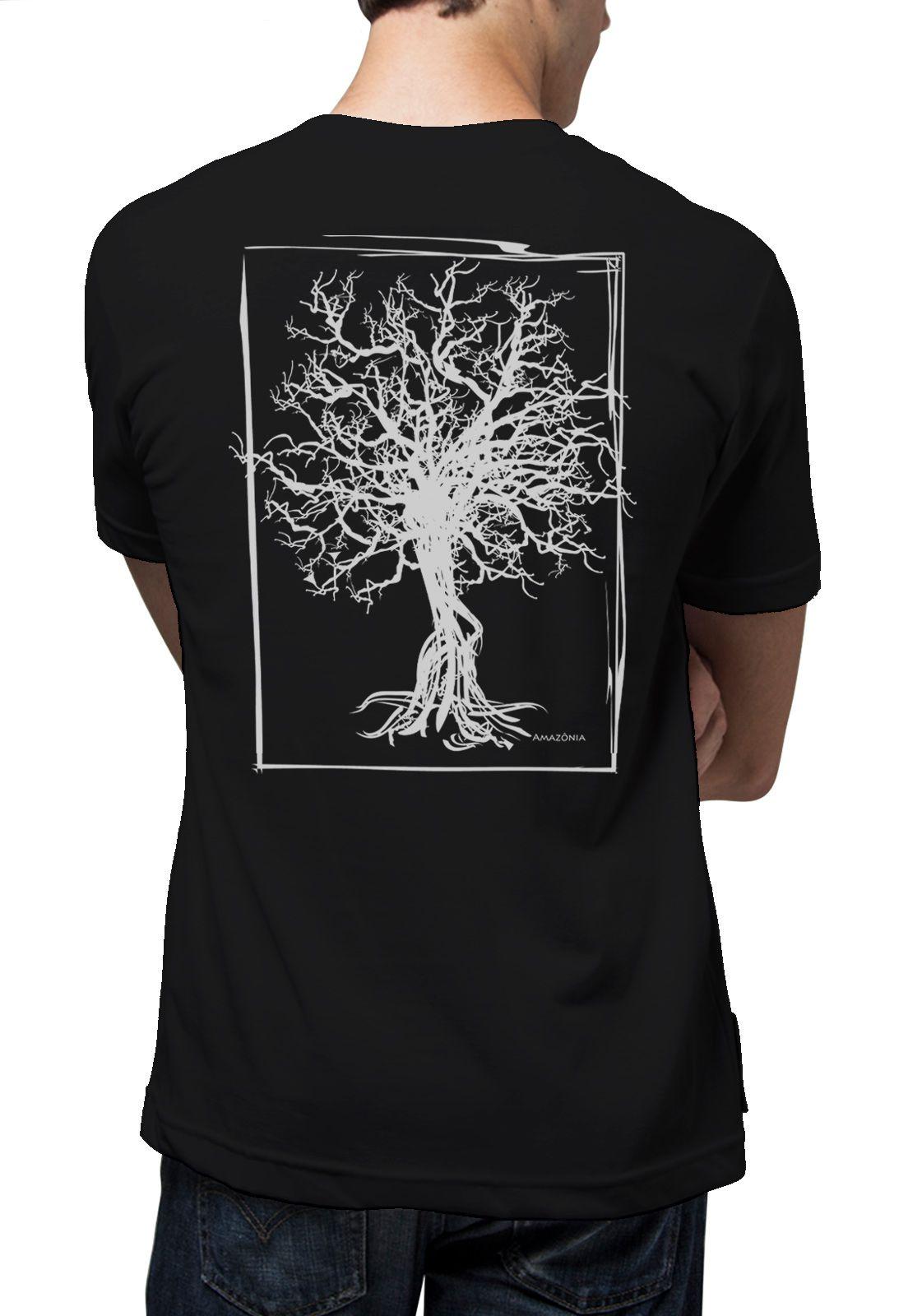 Camiseta Amazônia Quadro Desmatamento - Preto
