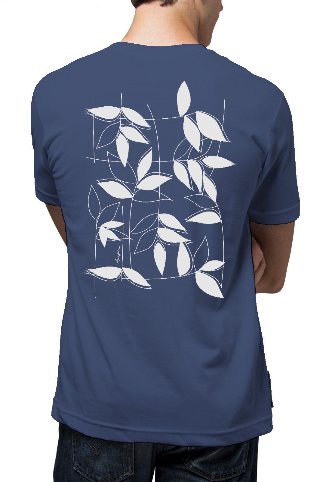 Camiseta Amazônia Quadro Natural - Azul