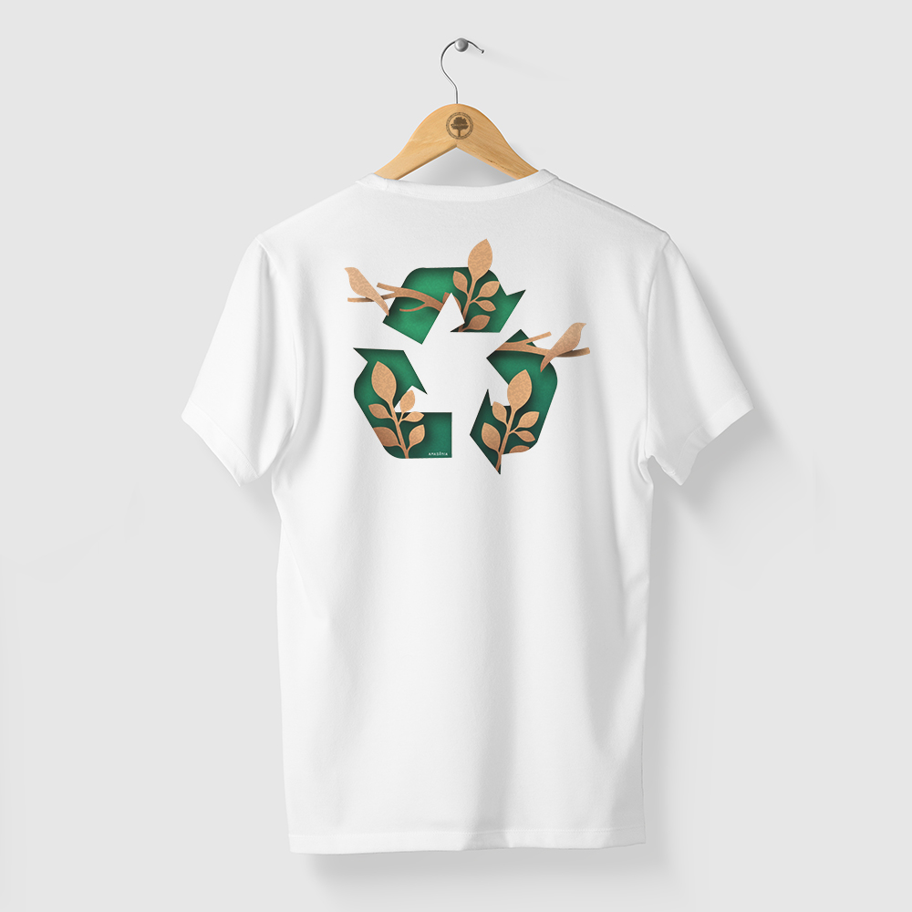 Camiseta Amazônia RE USE - BRANCO