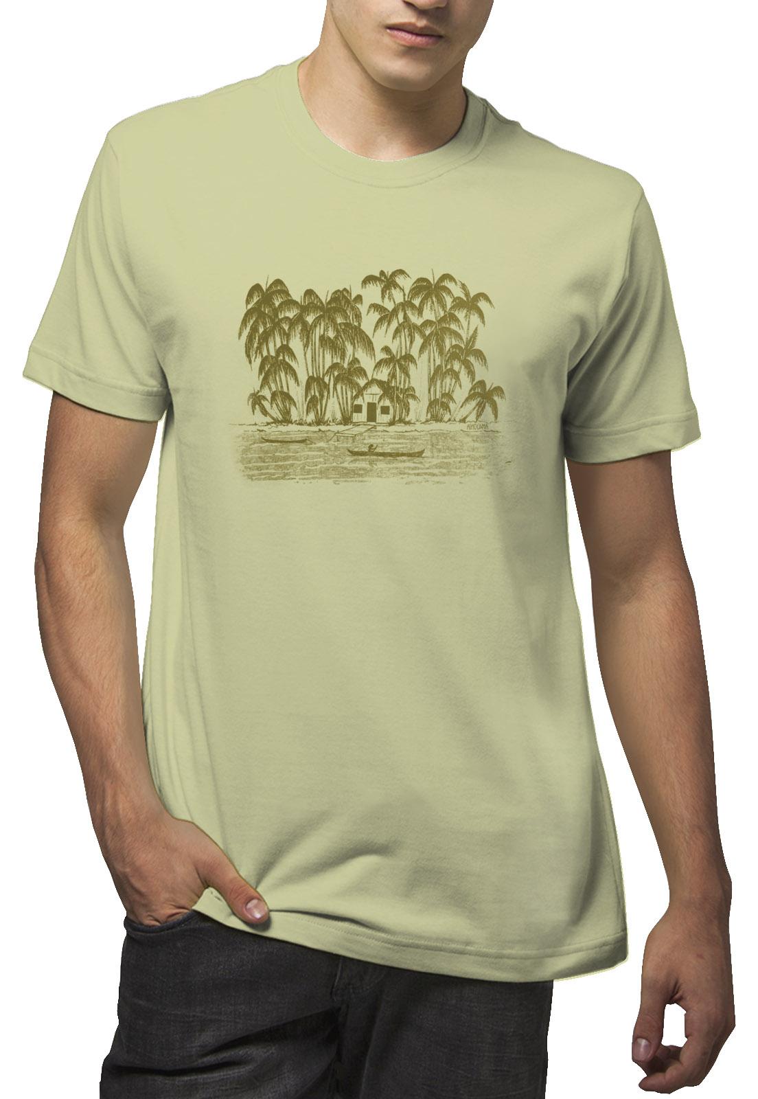 Camiseta Amazônia Ribeirinhos - Verde Claro