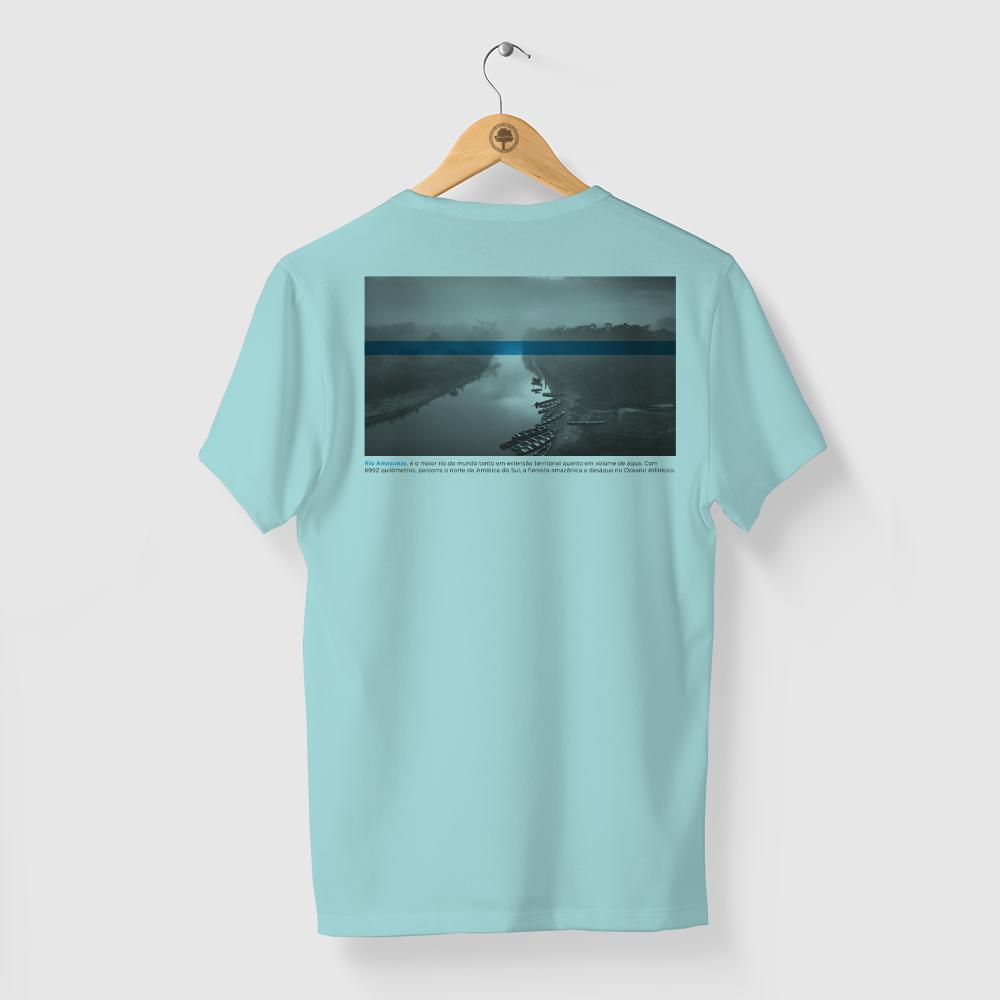 Camiseta Amazônia Rio Amazonas - Azul Claro
