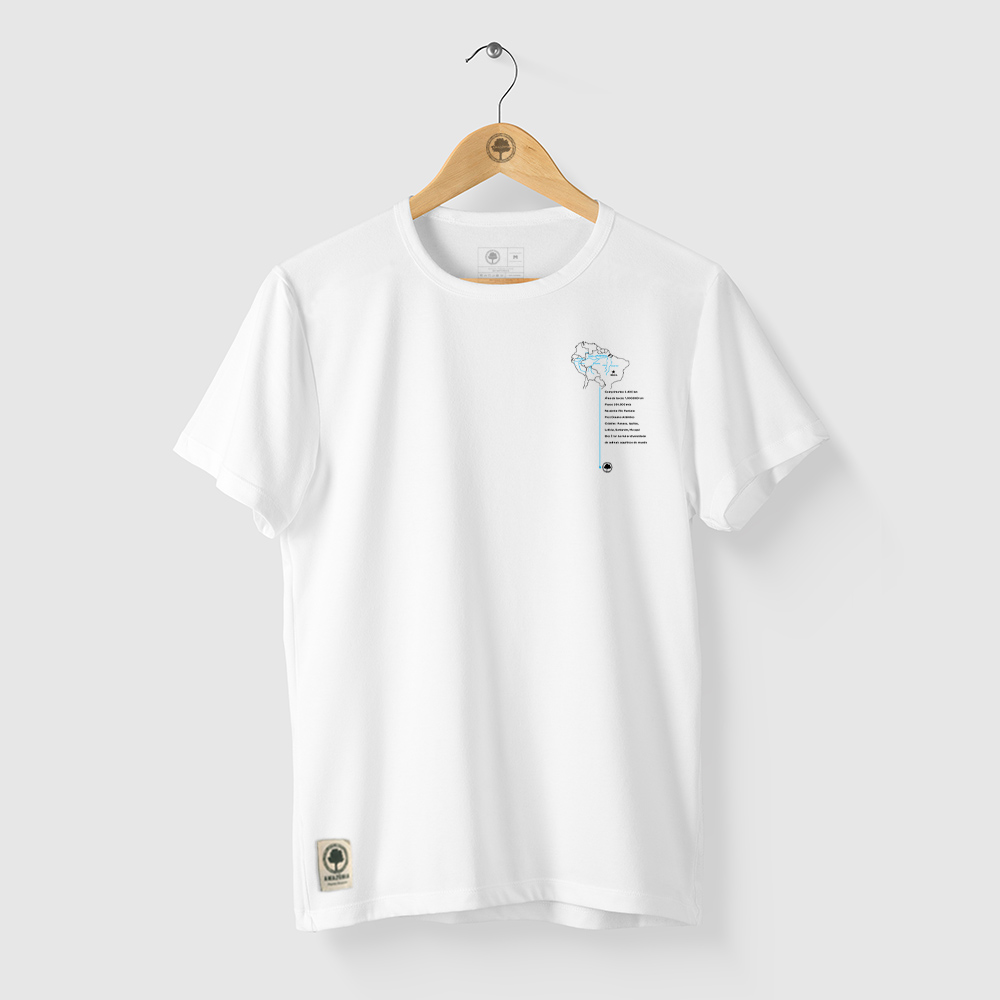 Camiseta Amazônia Rio Amazonas - Branco
