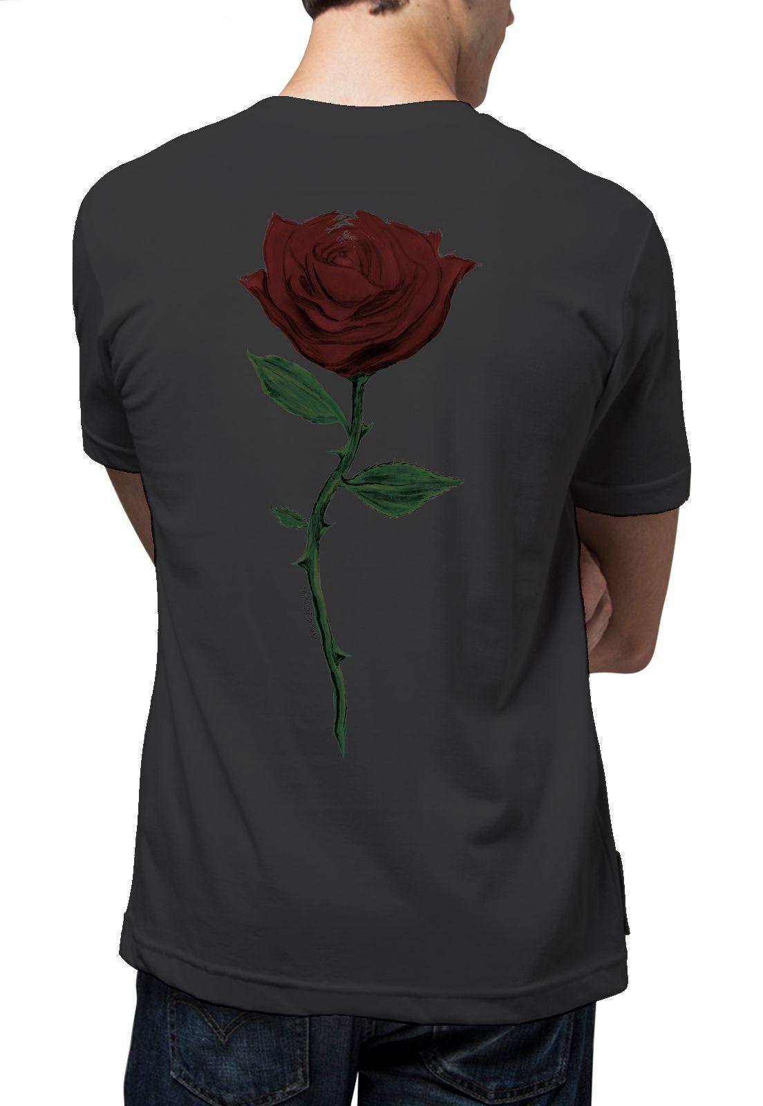 Camiseta Amazônia Rosa - Preto