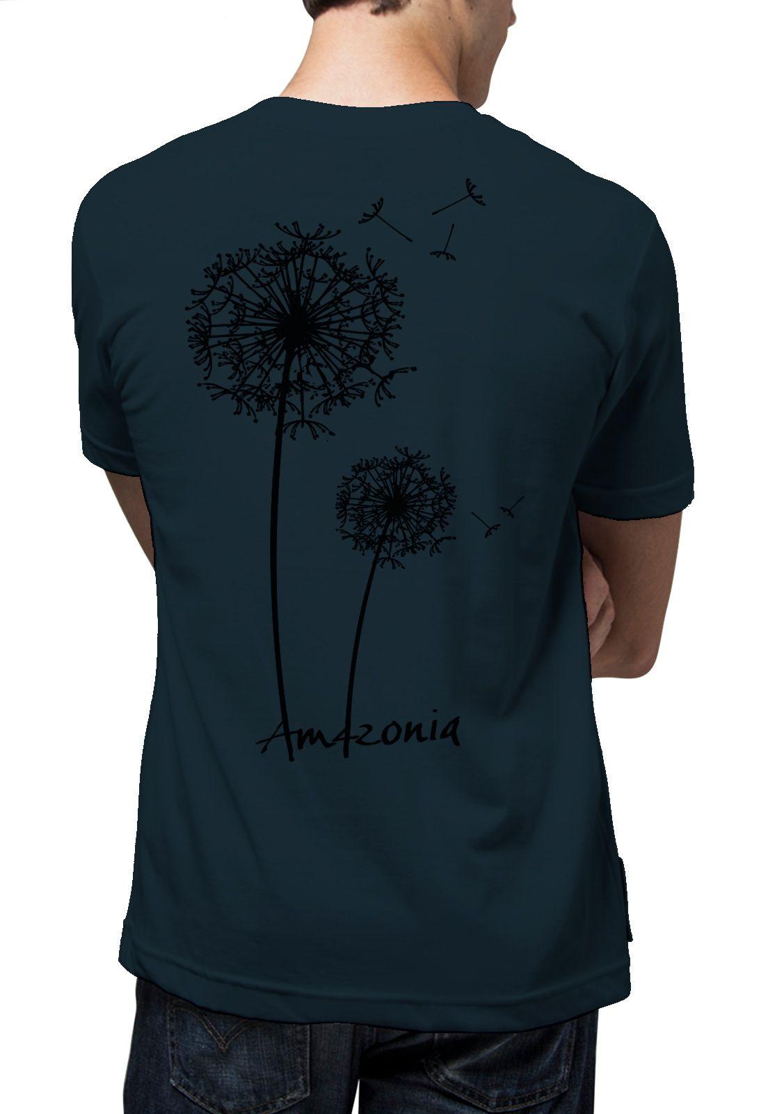 Camiseta Amazônia Sempre Viva - Azul Escuro