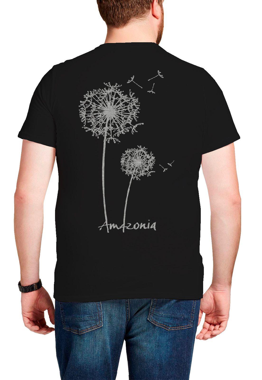 Camiseta Amazônia Sempre Viva - Preto