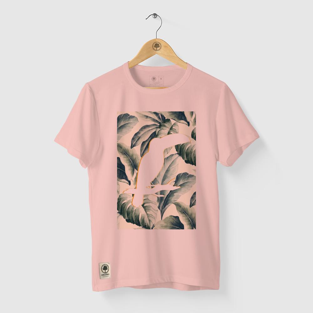 Camiseta Amazônia Silhueta Tucano - Salmão