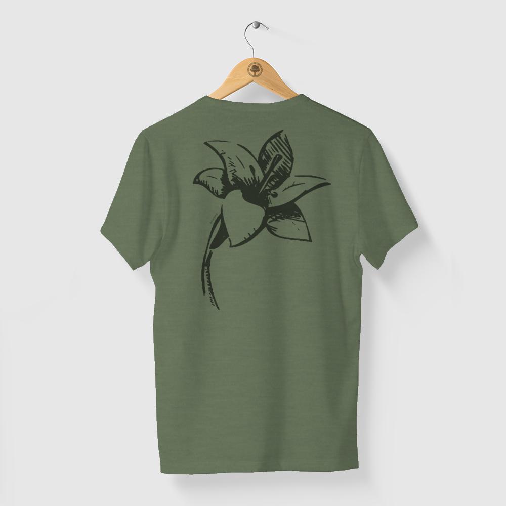 Camiseta Amazônia Simplicidade - Mescla Verde