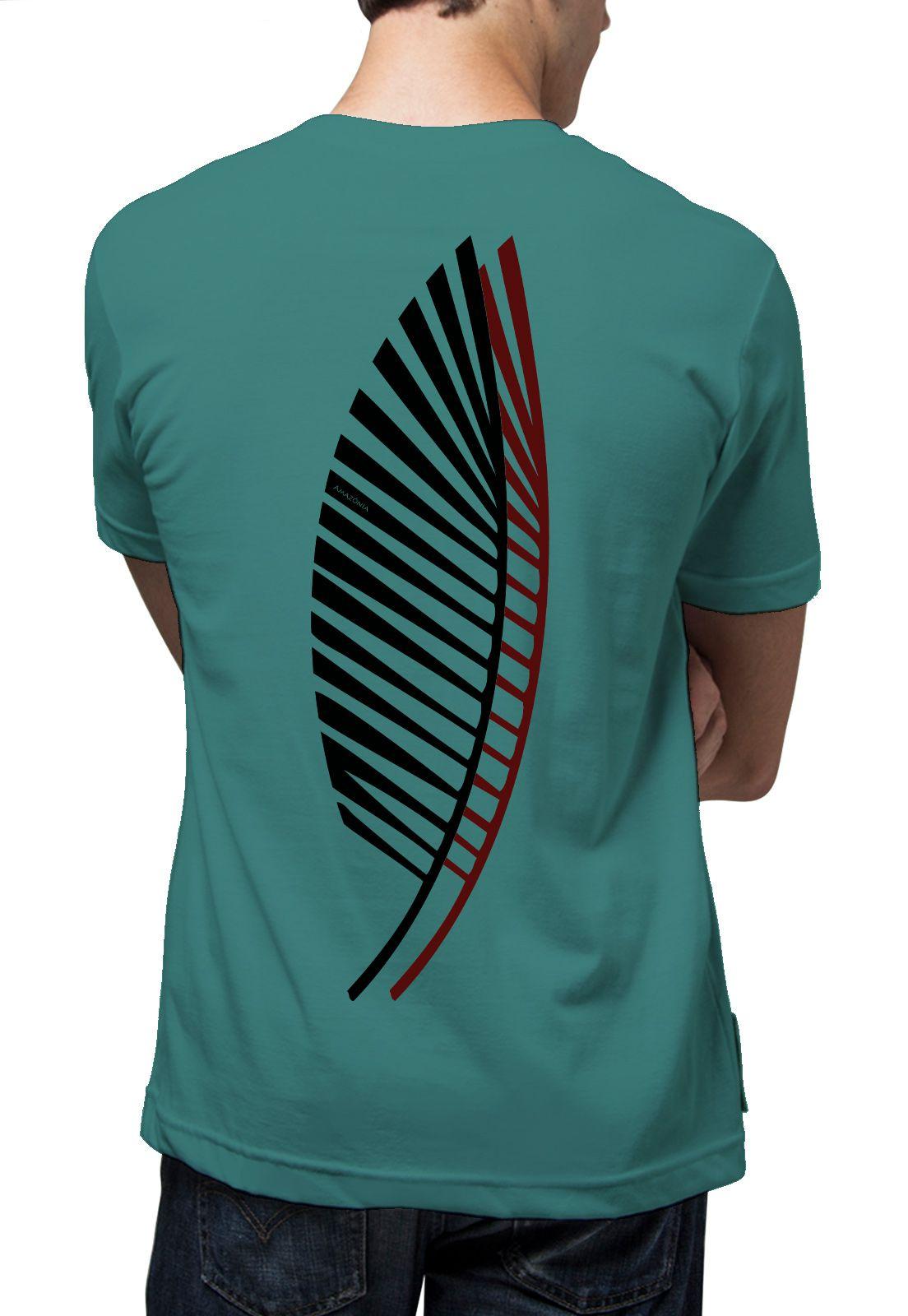 Camiseta Amazônia Sobrefolhas - Azul