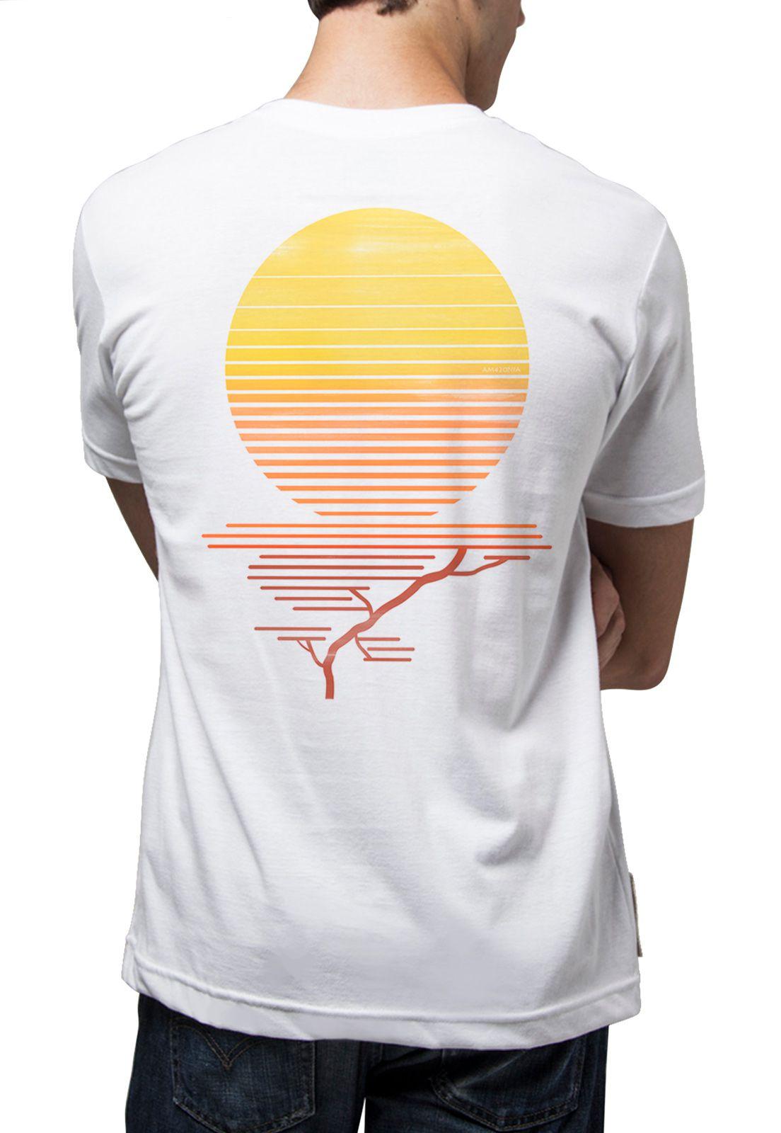 Camiseta Amazônia Sol Árvore - Branco