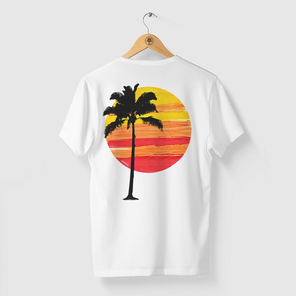 Camiseta Amazônia SOL COQUEIRO - BRANCO