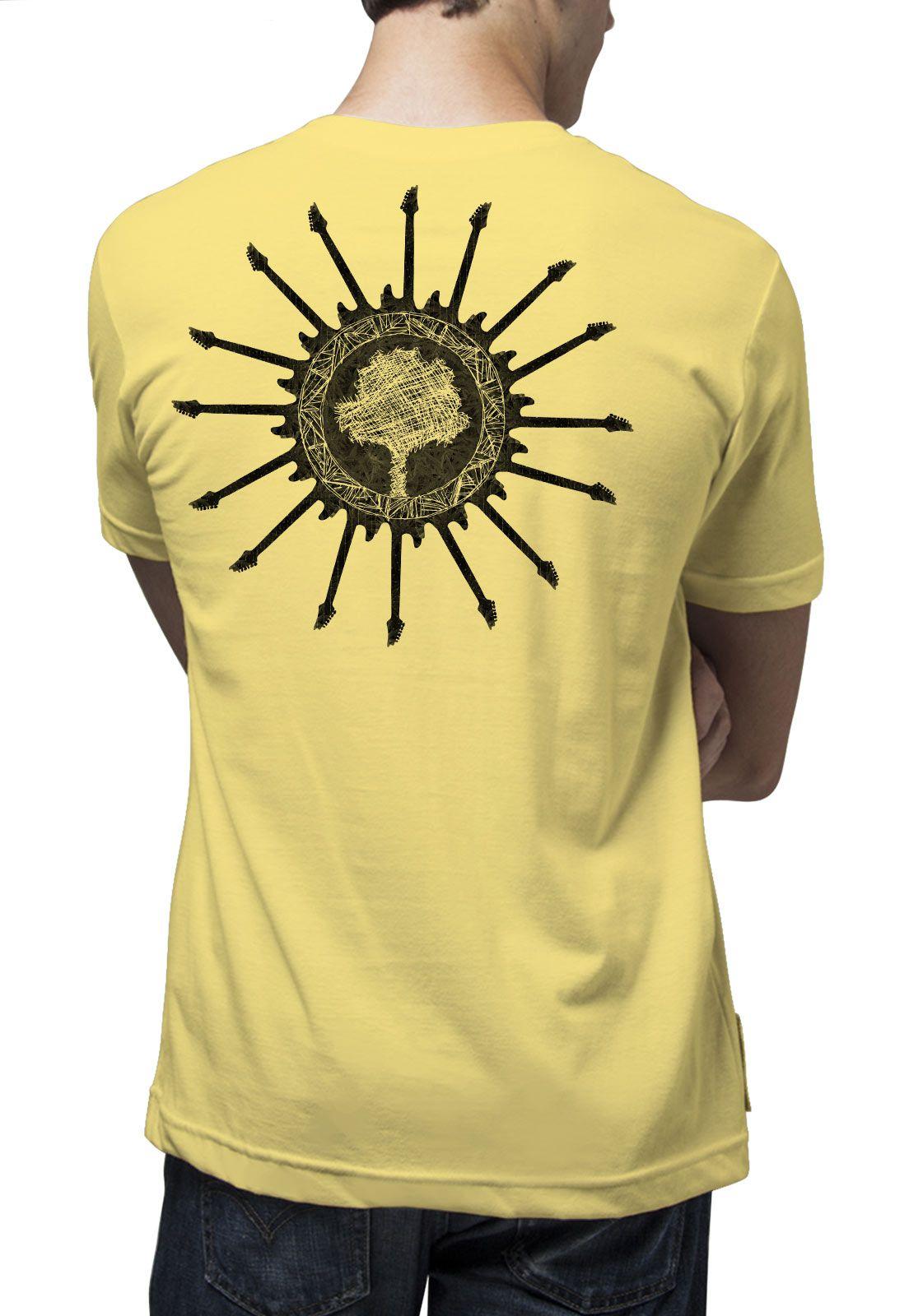 Camiseta Amazônia Sun Guitar - Amarelo