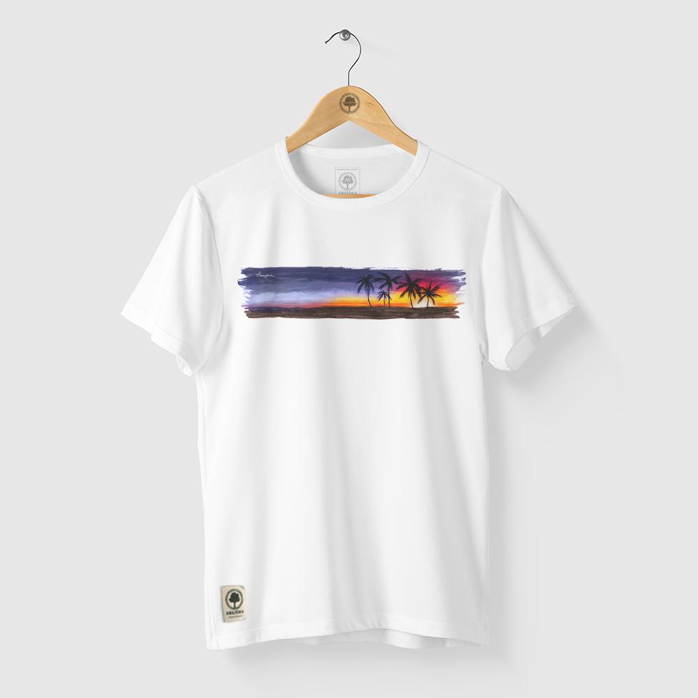 Camiseta Amazônia Sunset Bahia - Branco