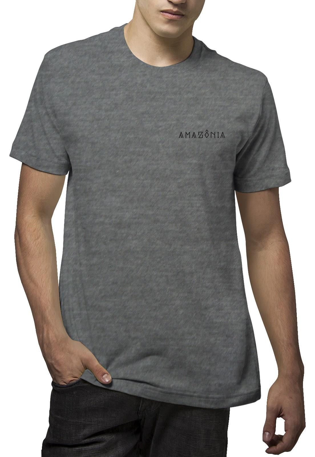 Camiseta Amazônia Tartaruga Grafismo - Mescla Escuro