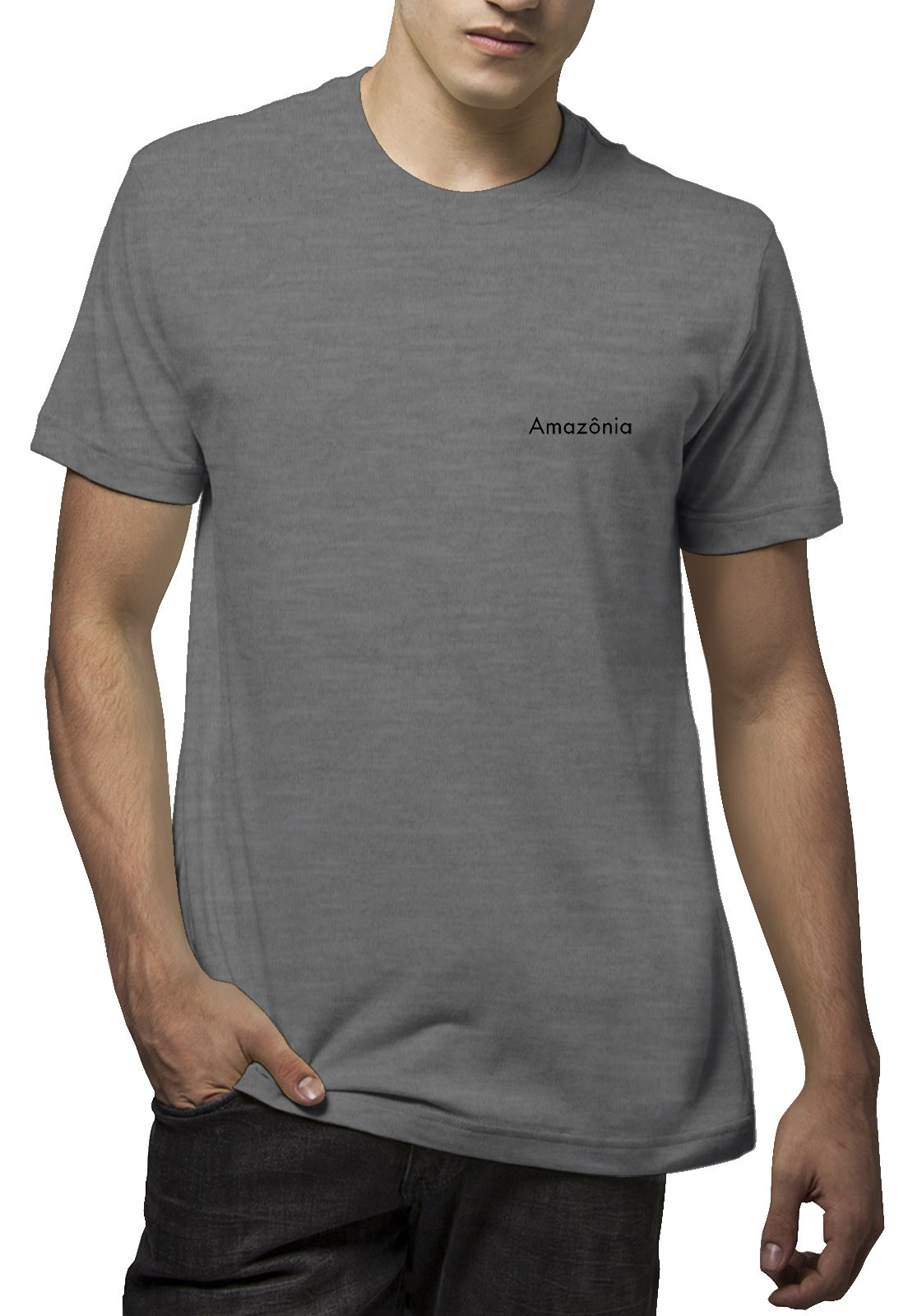 Camiseta Amazônia Tartaruga Maori - Cinza Mescla