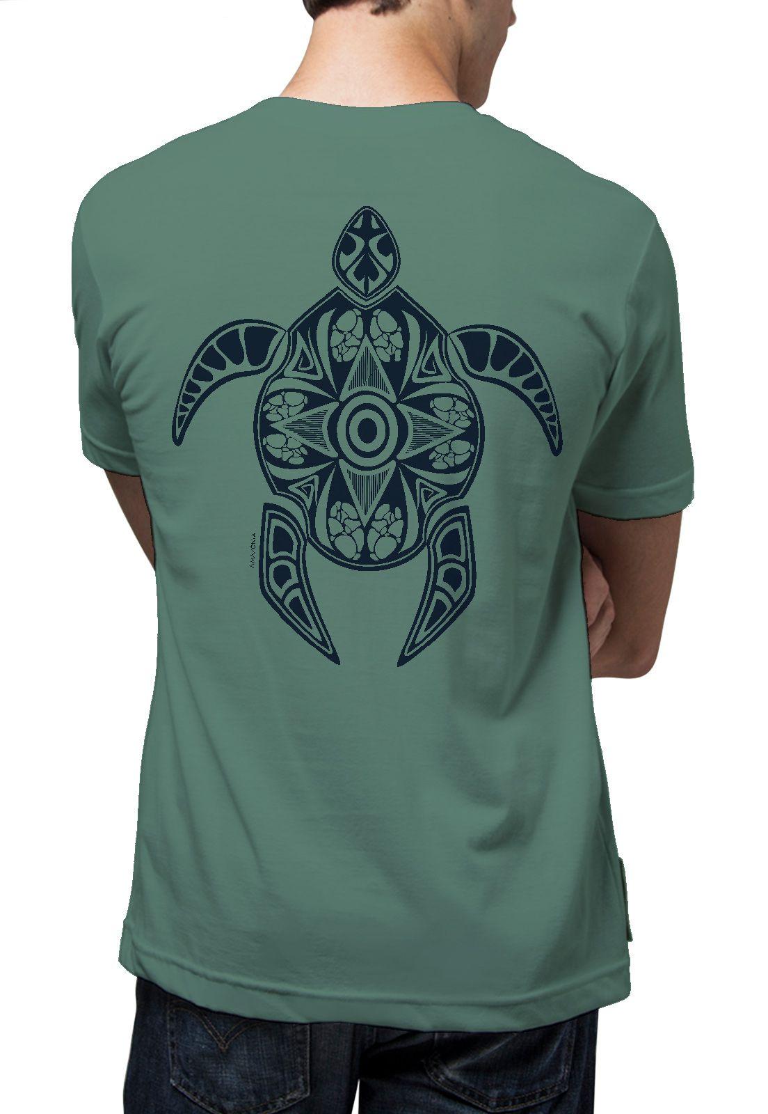 Camiseta Amazônia Tartaruga Maori - Verde