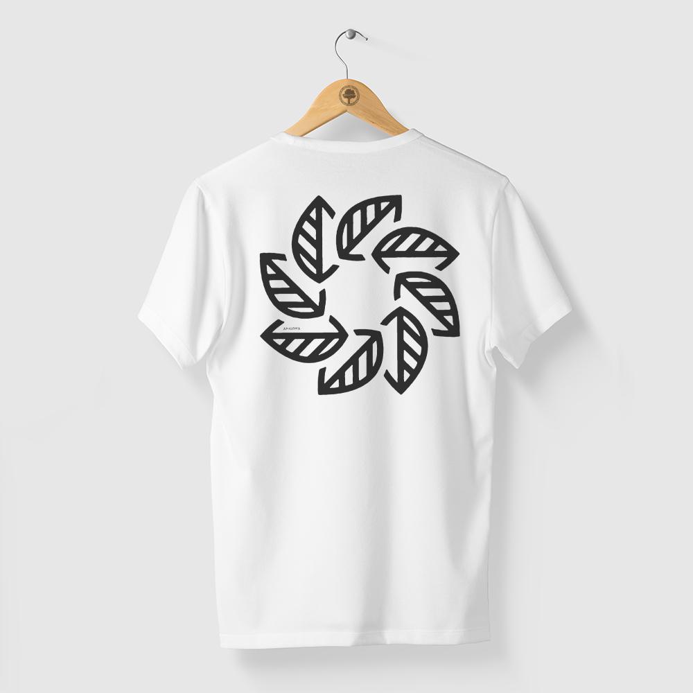 Camiseta Amazônia Tempo Natureza - Branco