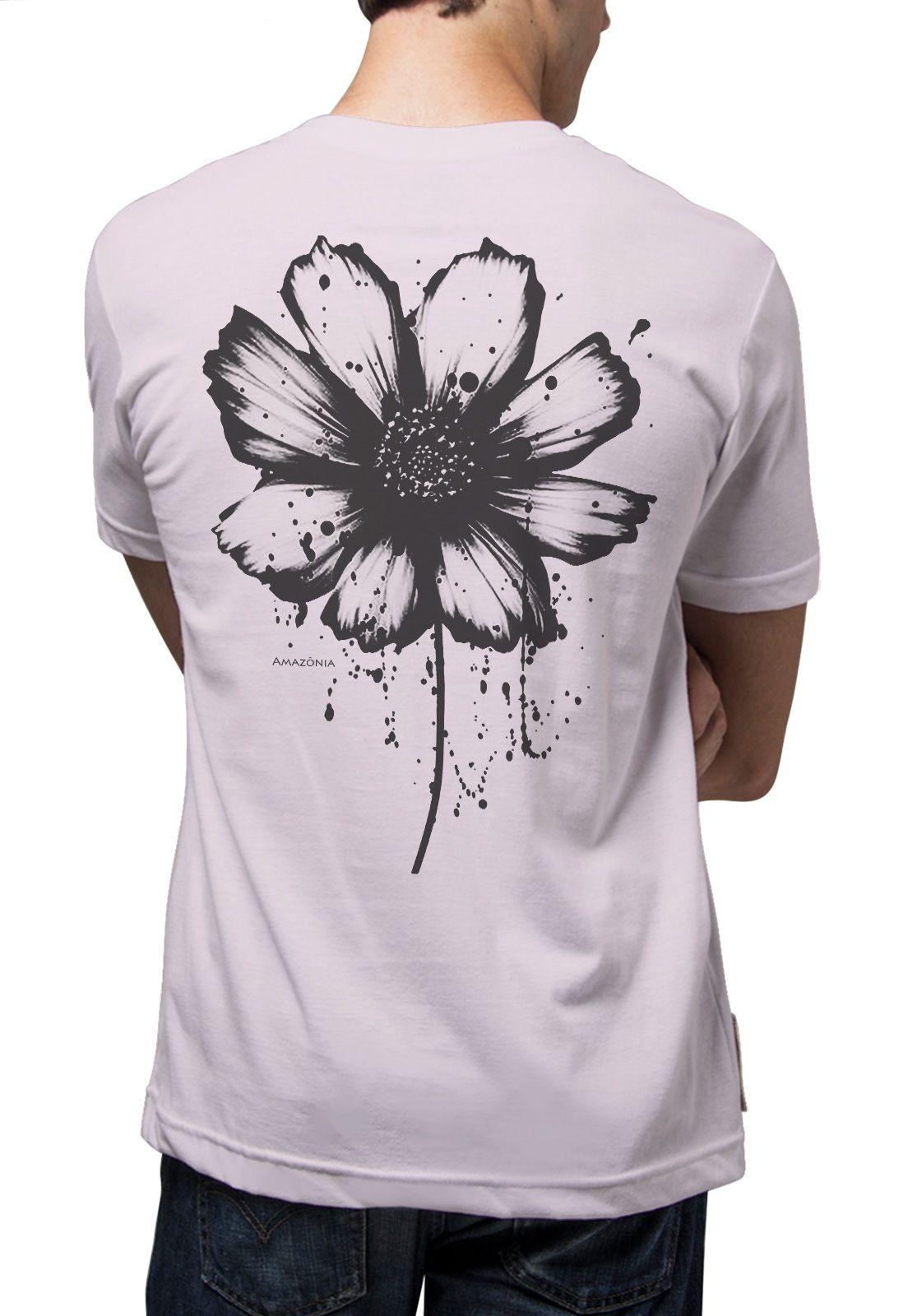 Camiseta Amazônia Tinta Flor - Lilás