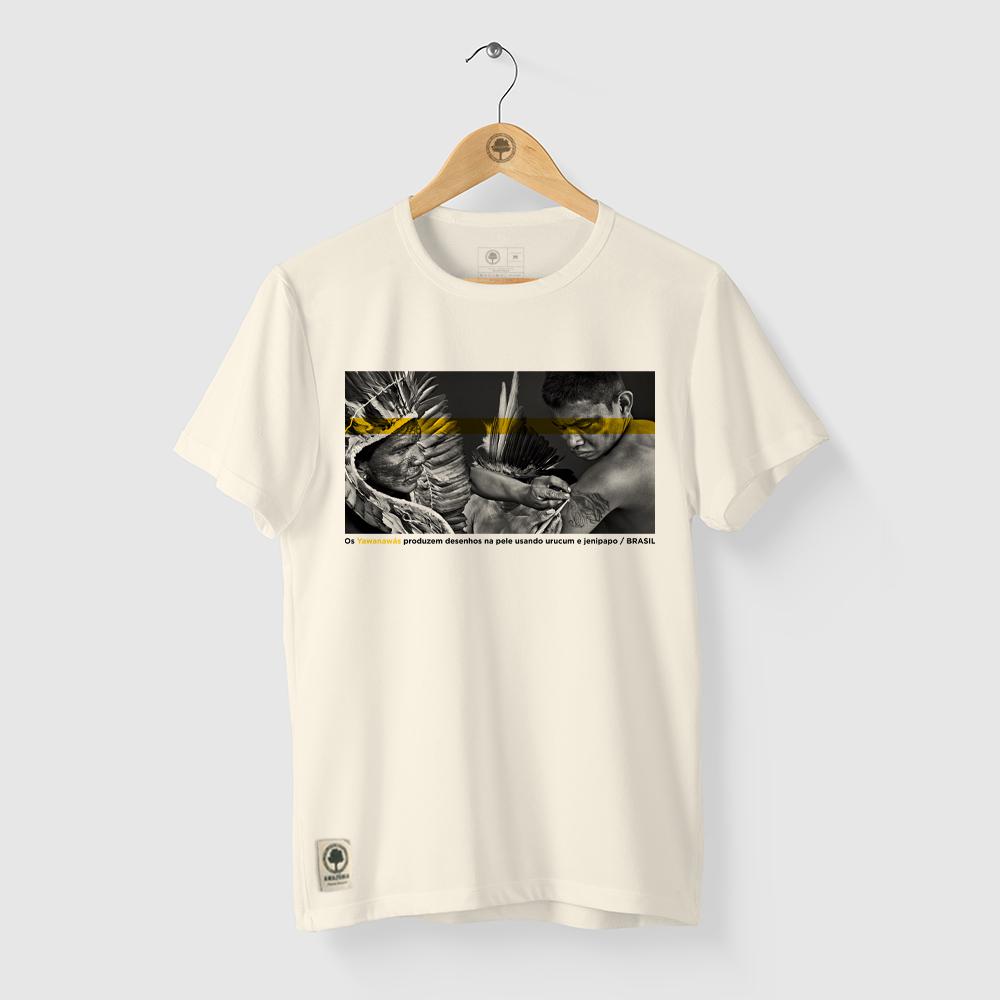 Camiseta Amazônia Tinta Natural - Off White