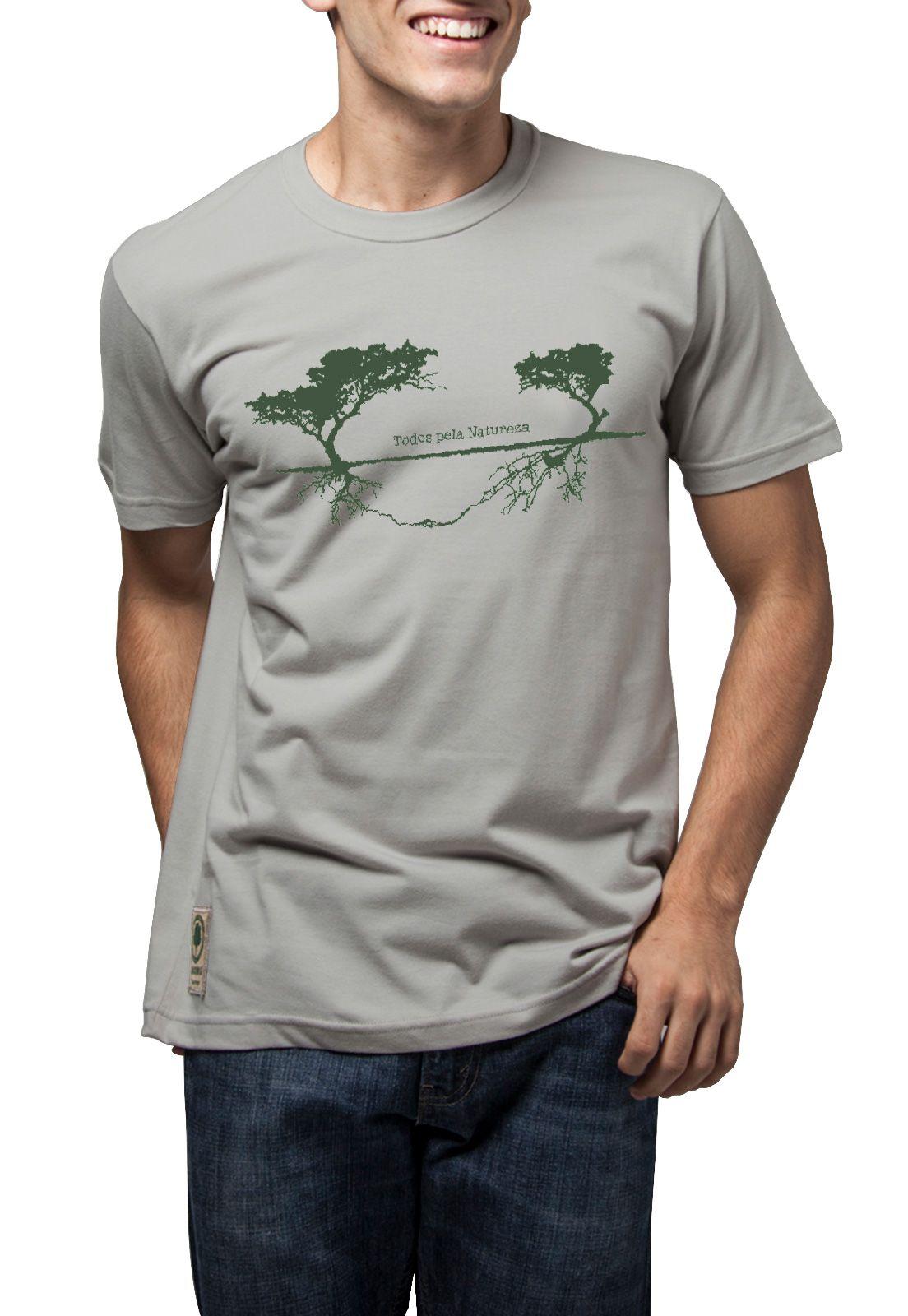 Camiseta Amazônia Todos Pela Natureza - Bege Claro