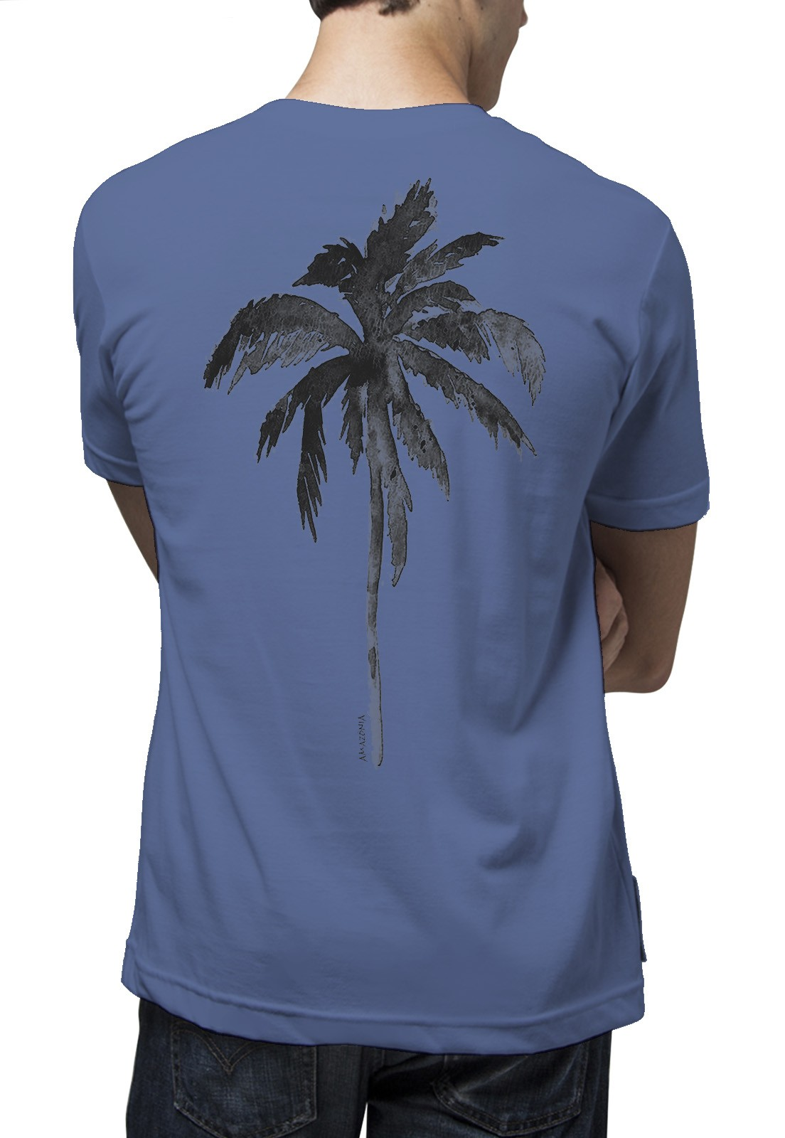 Camiseta Amazônia Tropical - Azul