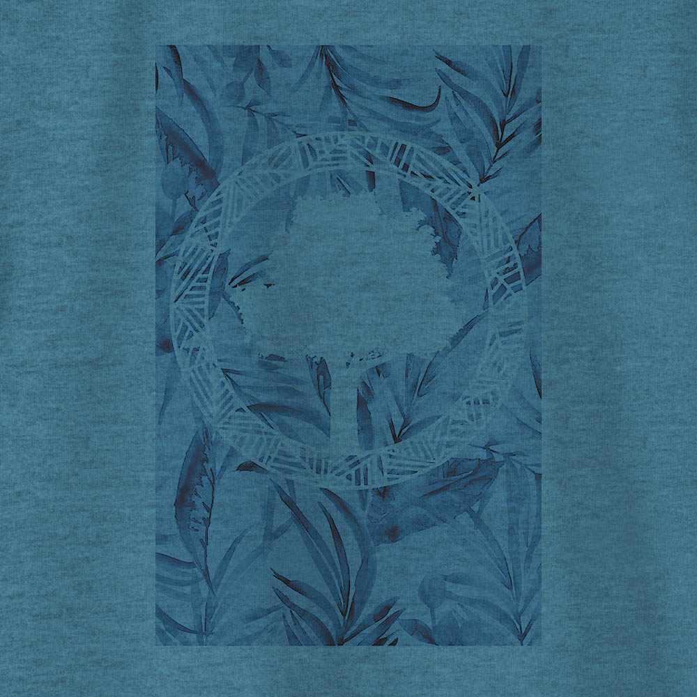 Camiseta Amazônia TROPICAL LOGO - MESCLA AZUL
