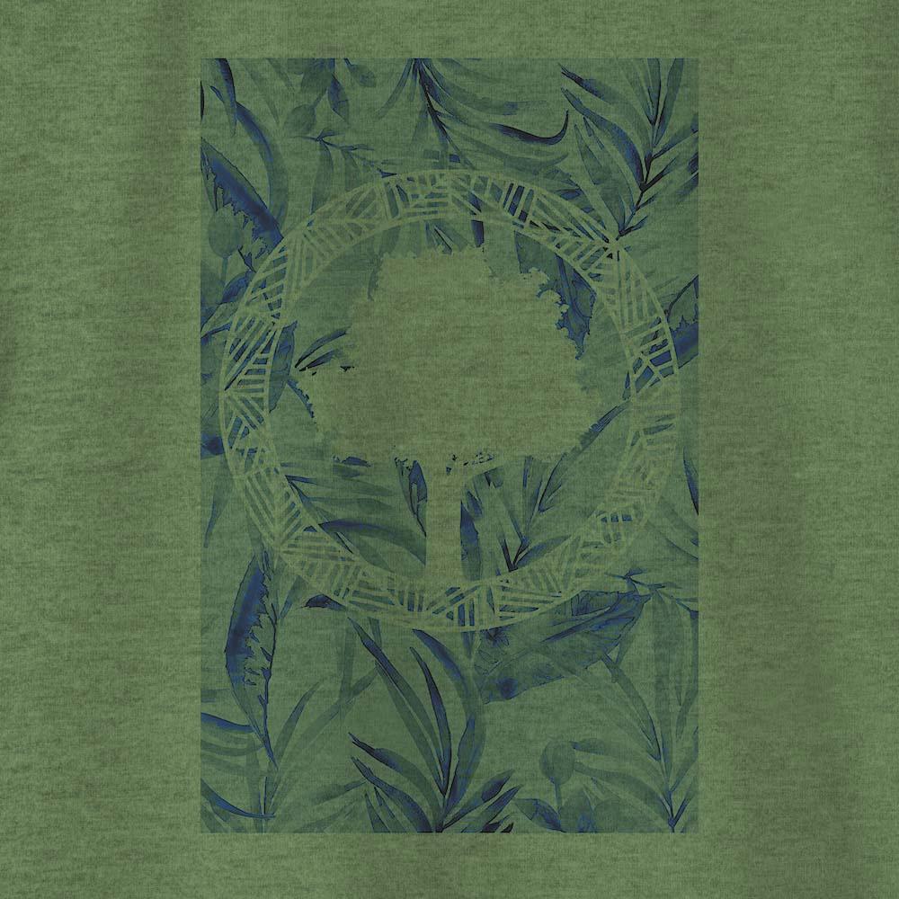 Camiseta Amazônia Tropical Logo - Mescla Verde