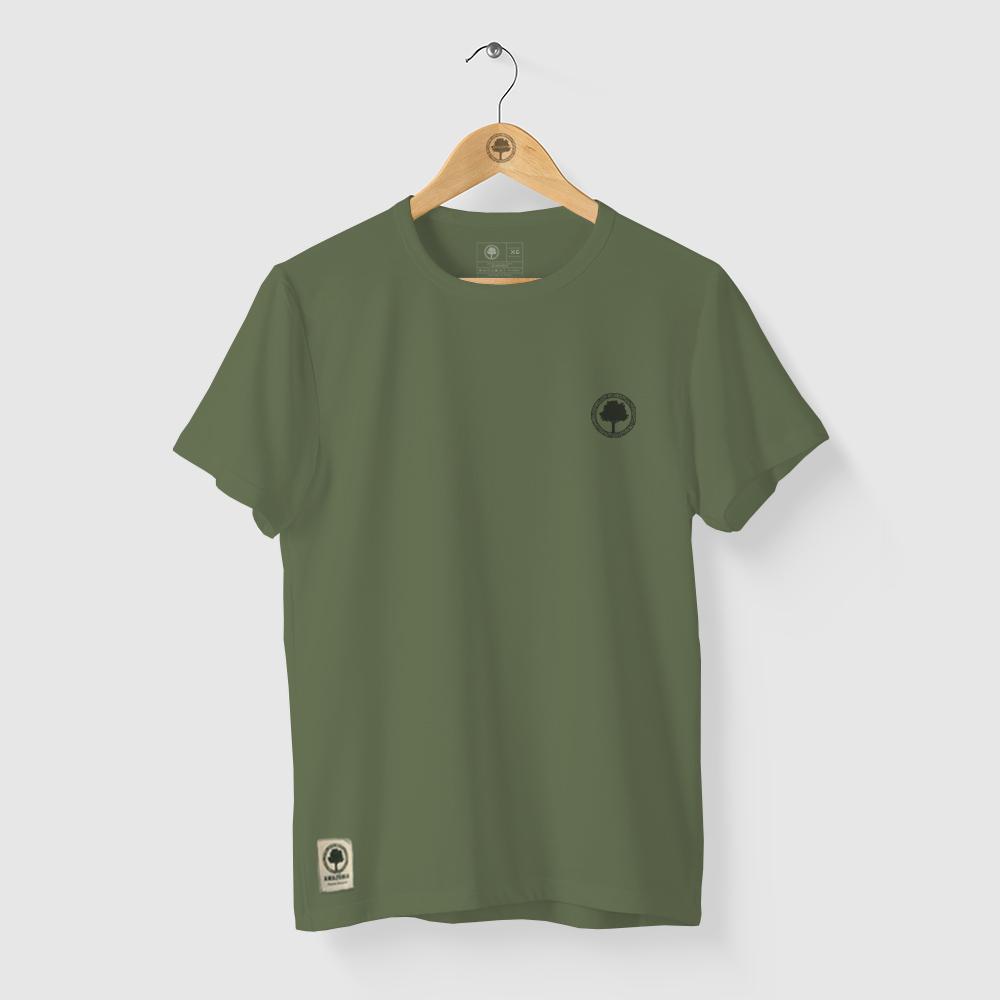 Camiseta Amazônia TROPICAL LOGO - VERDE ESCURO