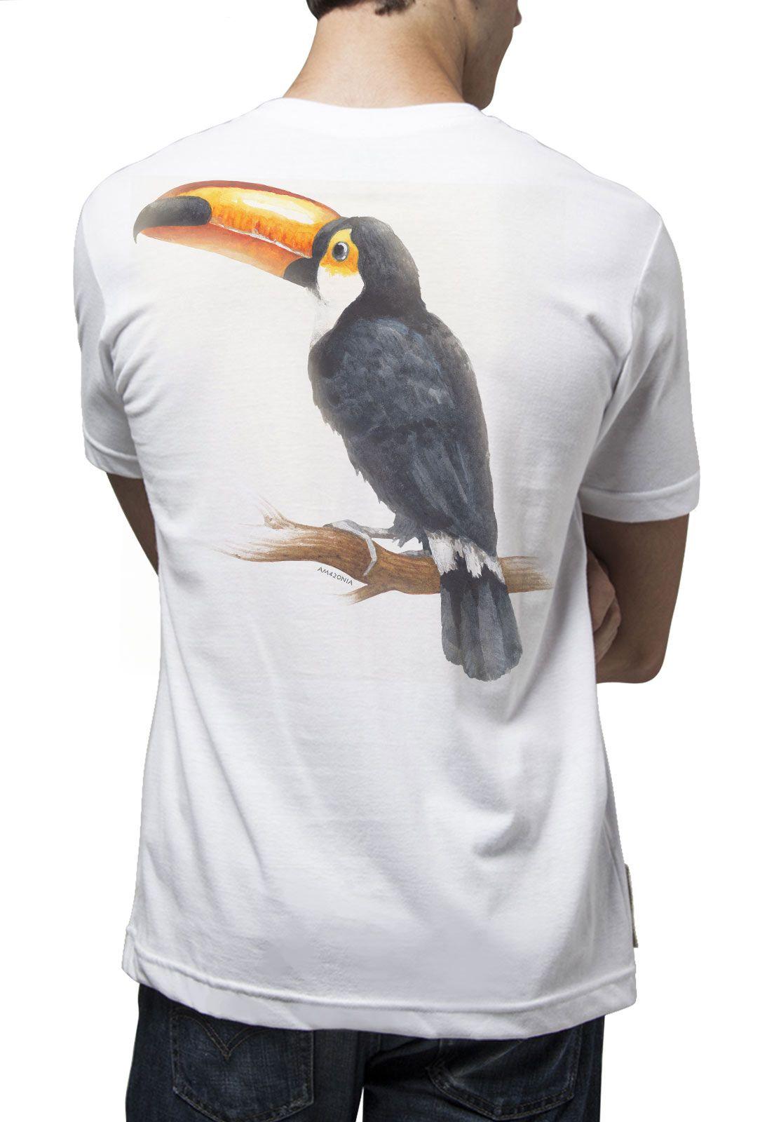 Camiseta Amazônia Tucano Clássico - Branco
