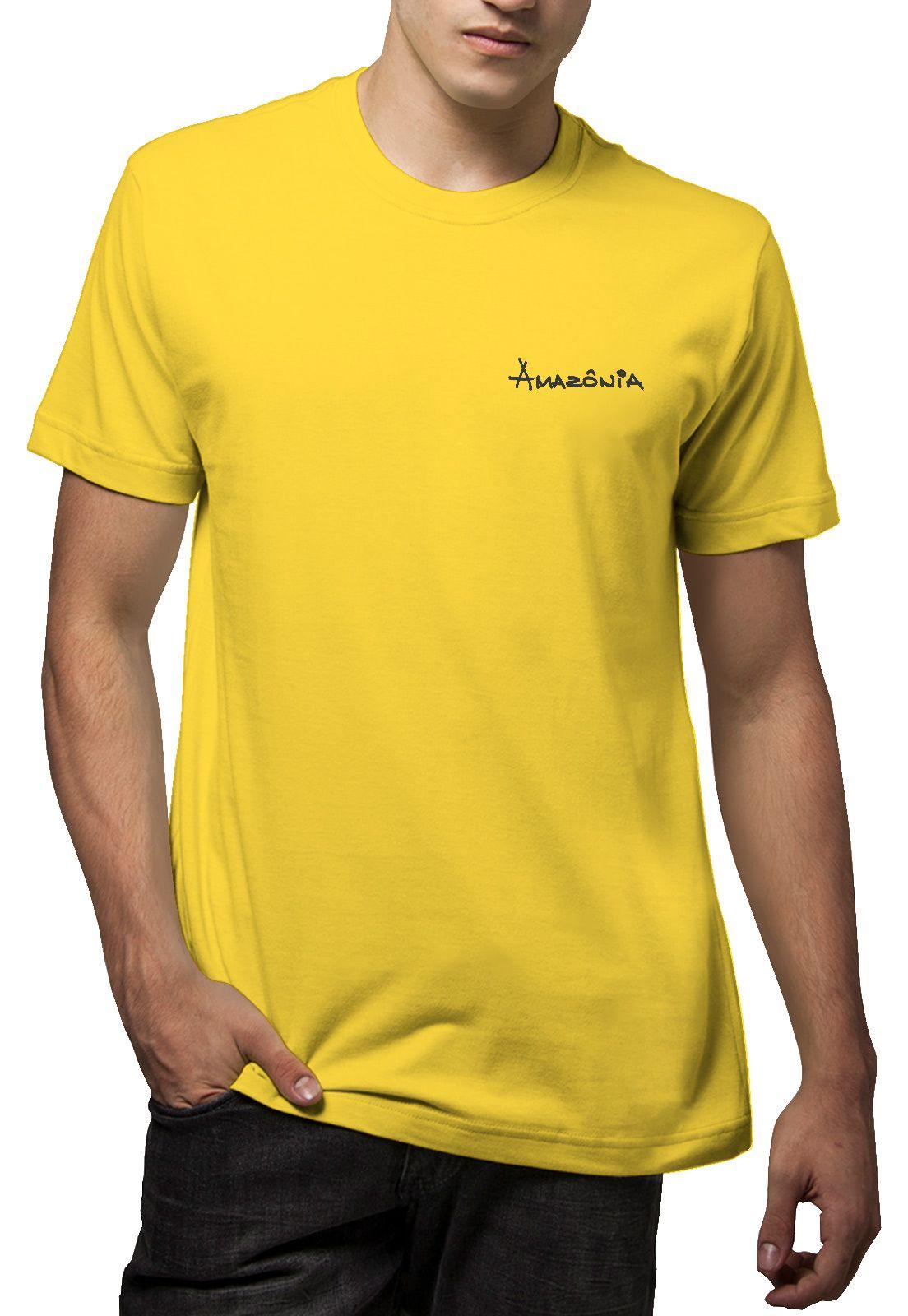 Camiseta Amazônia Tucano Colorido - Amarelo