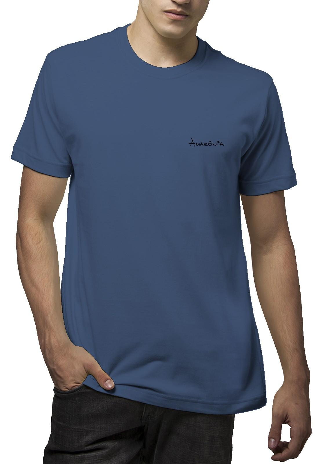 Camiseta Amazônia Tucano Desenho - Azul Marinho