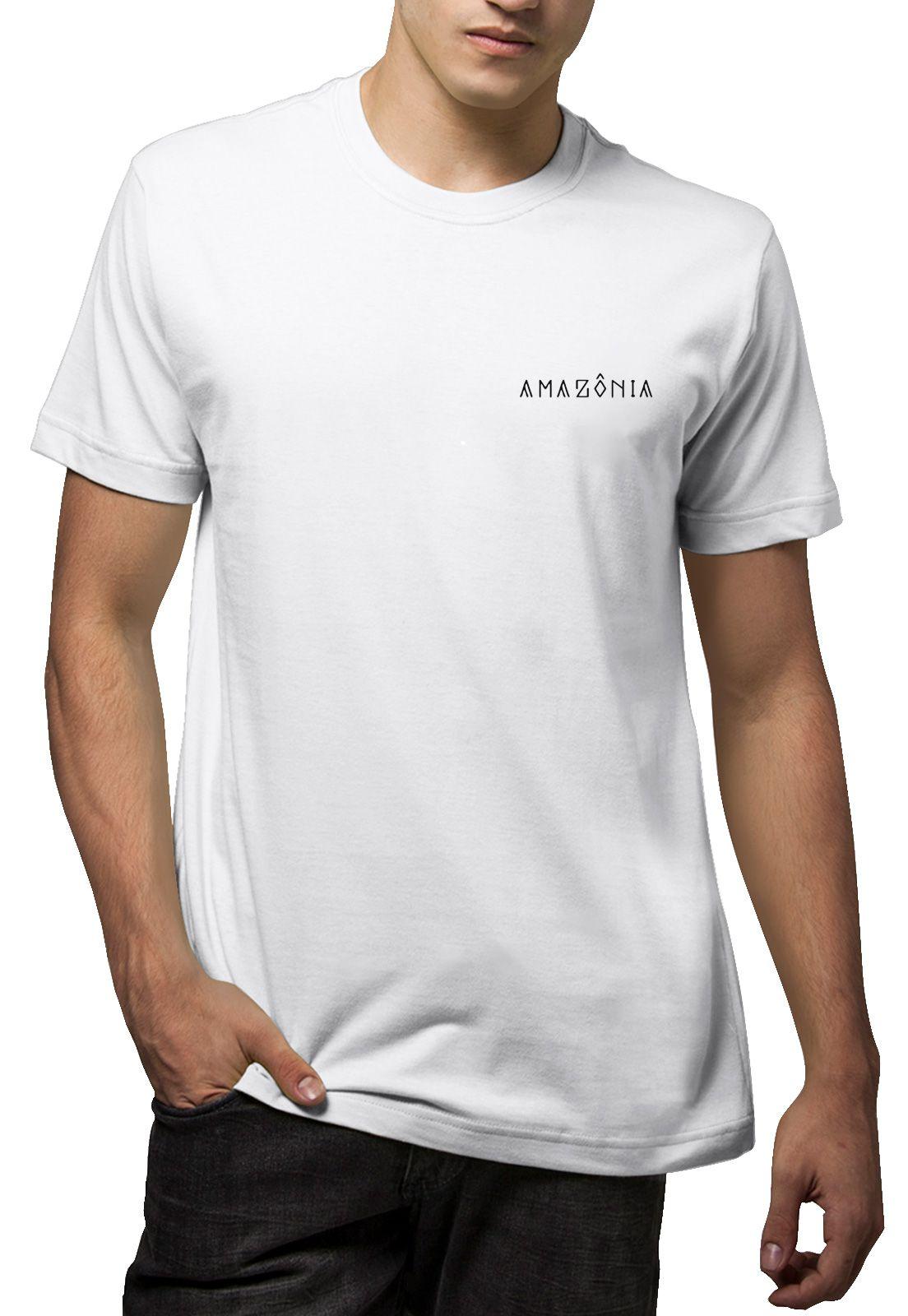 Camiseta Amazônia Tucano Grafismo - Branco
