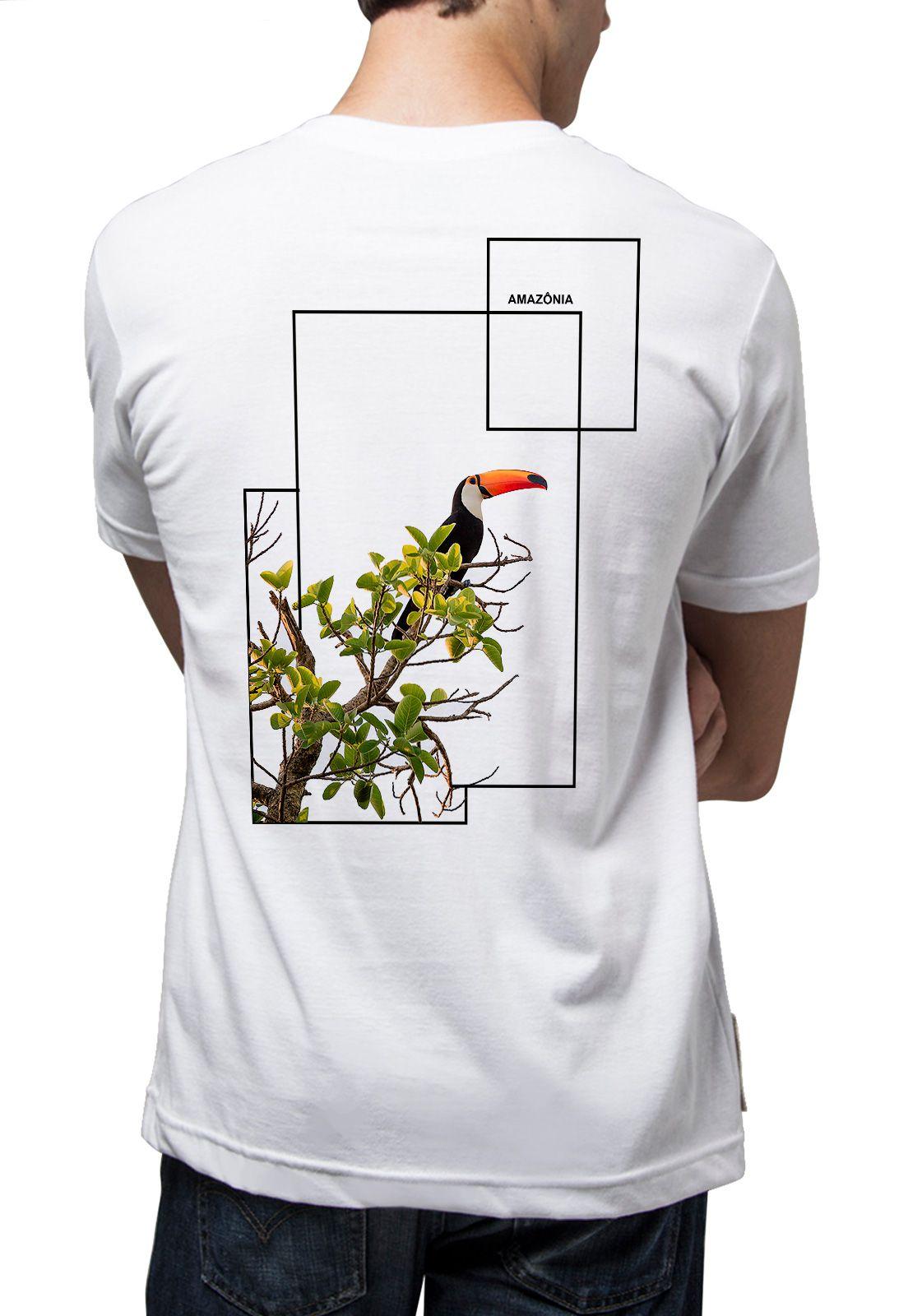 Camiseta Amazônia Lindo Tucano - Branco