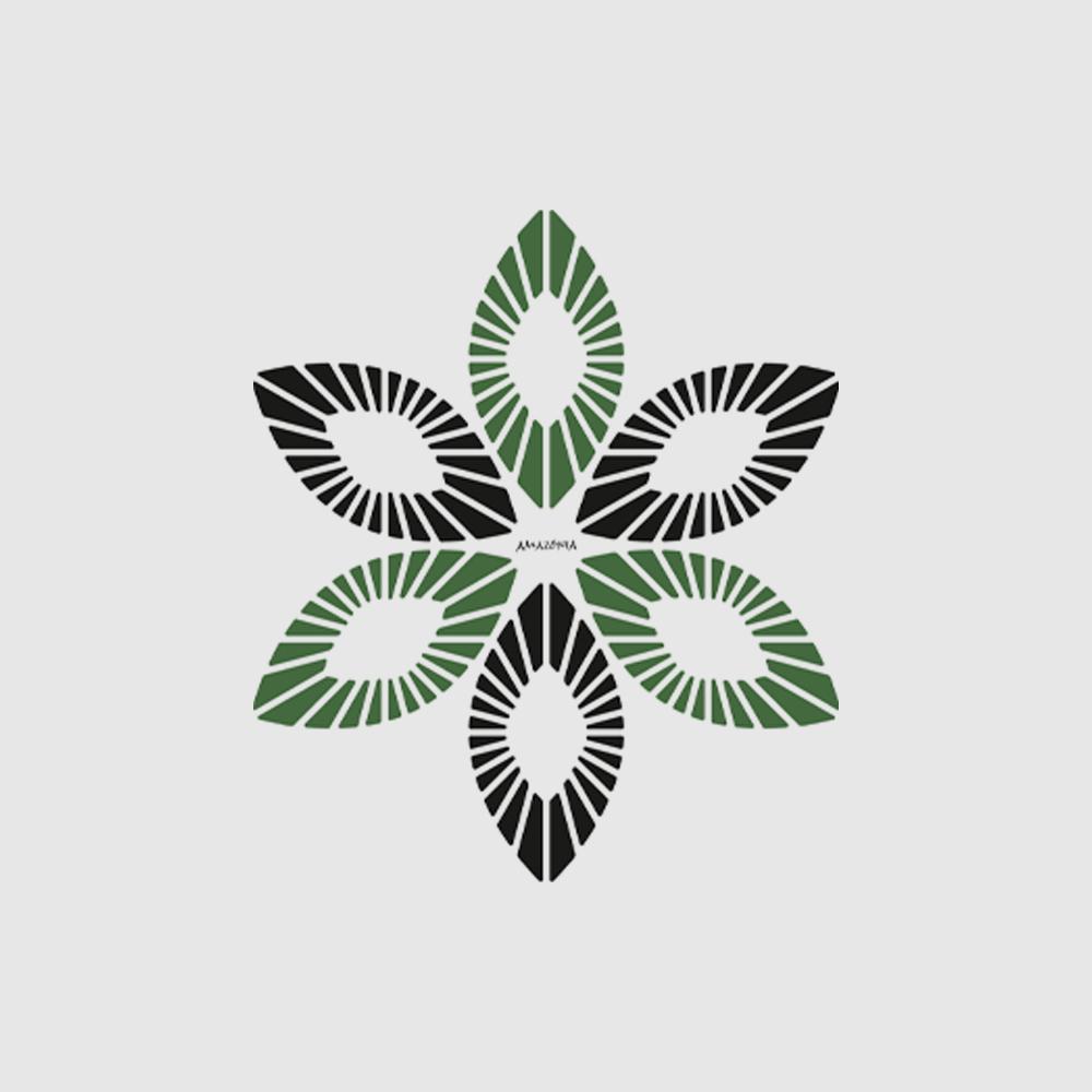 Camiseta Amazônia União Natural - Mescla Verde