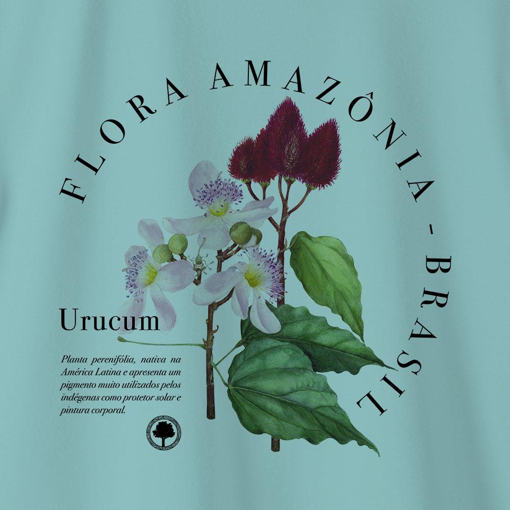 Camiseta Amazônia Urucum - Azul Claro