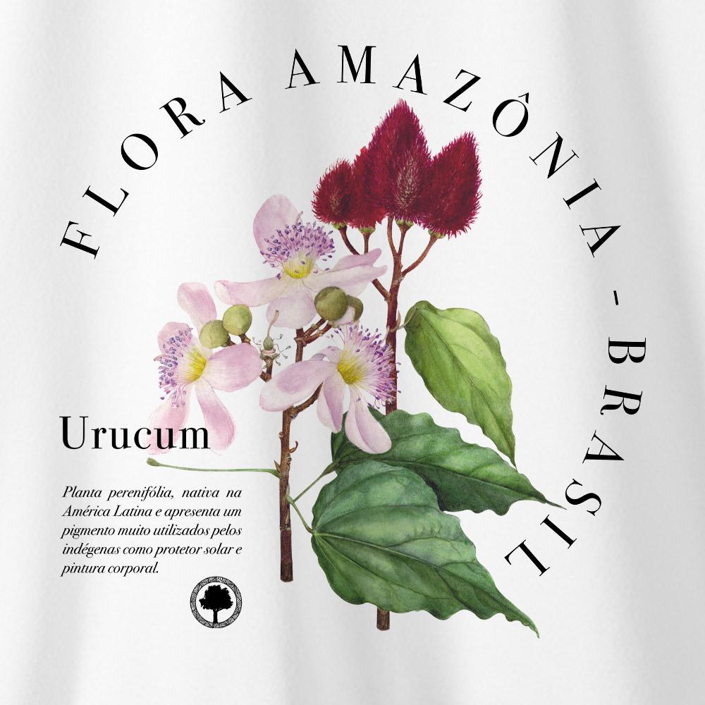 Camiseta Amazônia Urucum - Branco