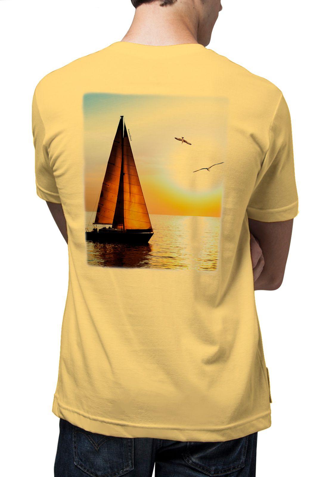 Camiseta Amazônia Veleiro - Amarelo