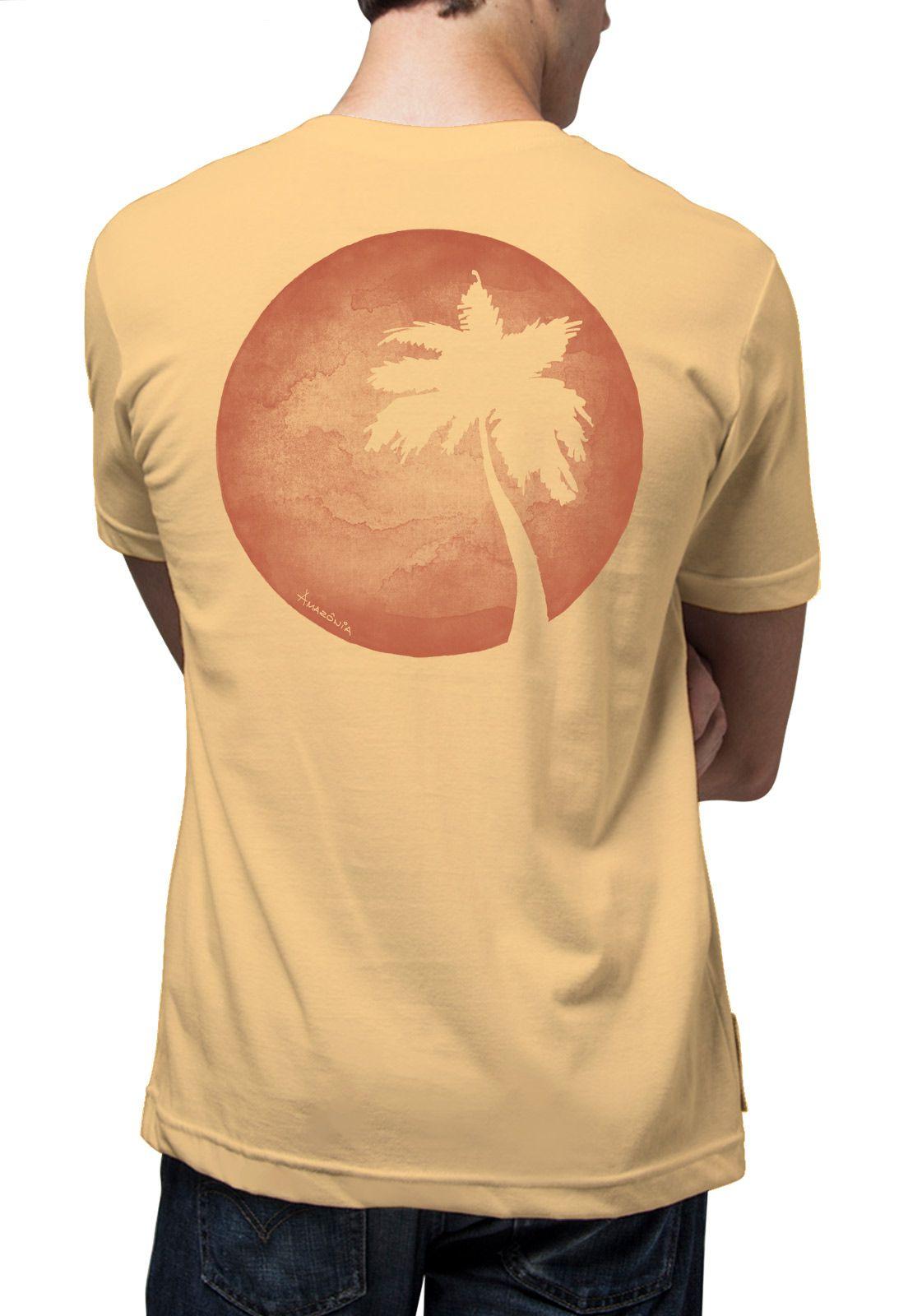 Camiseta Amazônia Verão Coqueiro - Amarelo
