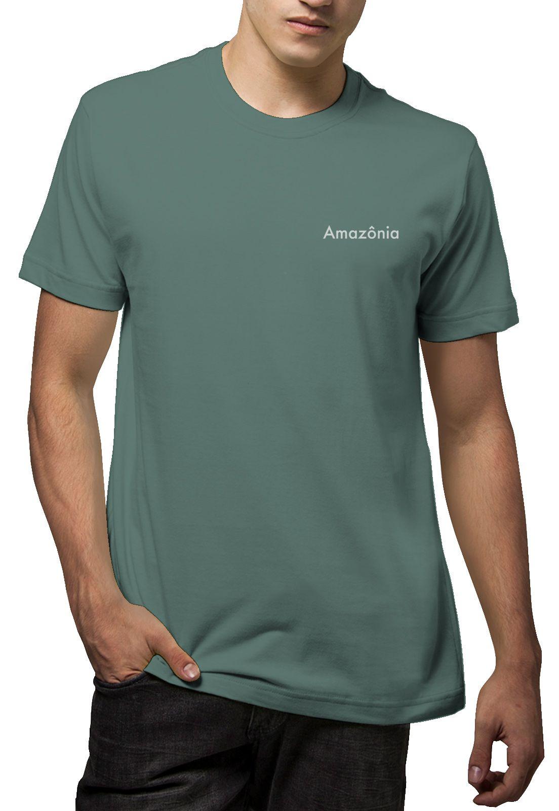Camiseta Amazônia Verão Coqueiro - Cinza