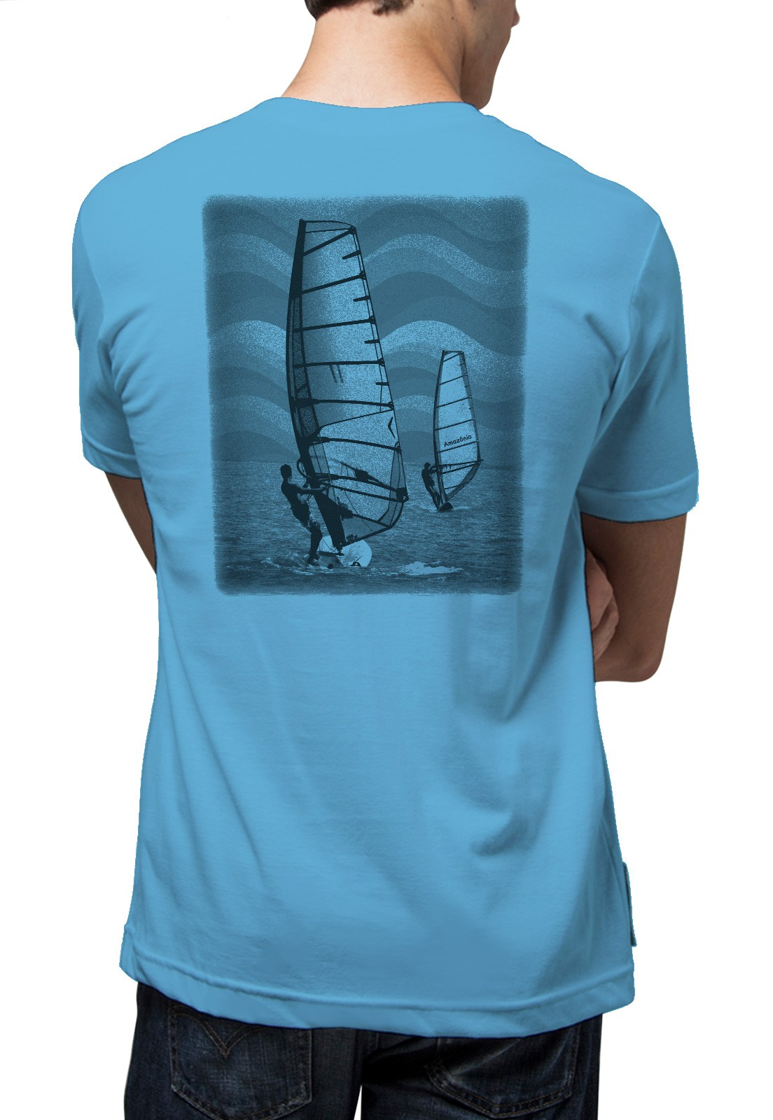 Camiseta Amazônia Windsurf - Azul Claro
