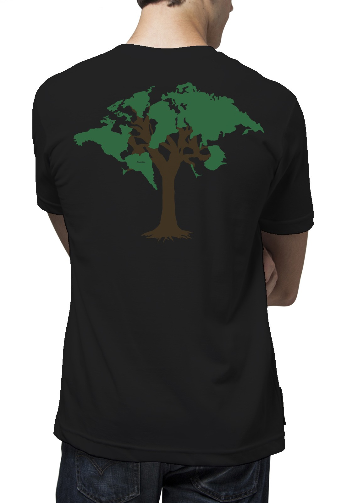 Camiseta Amazônia World Tree - Preto