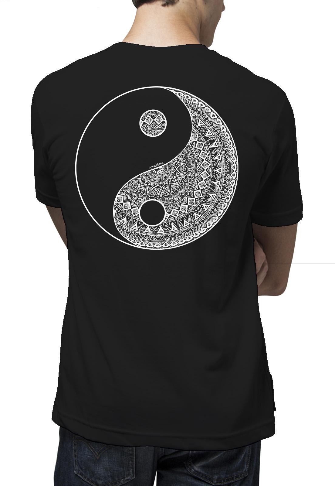 Camiseta Amazônia Yin Yang Tribal - Preto