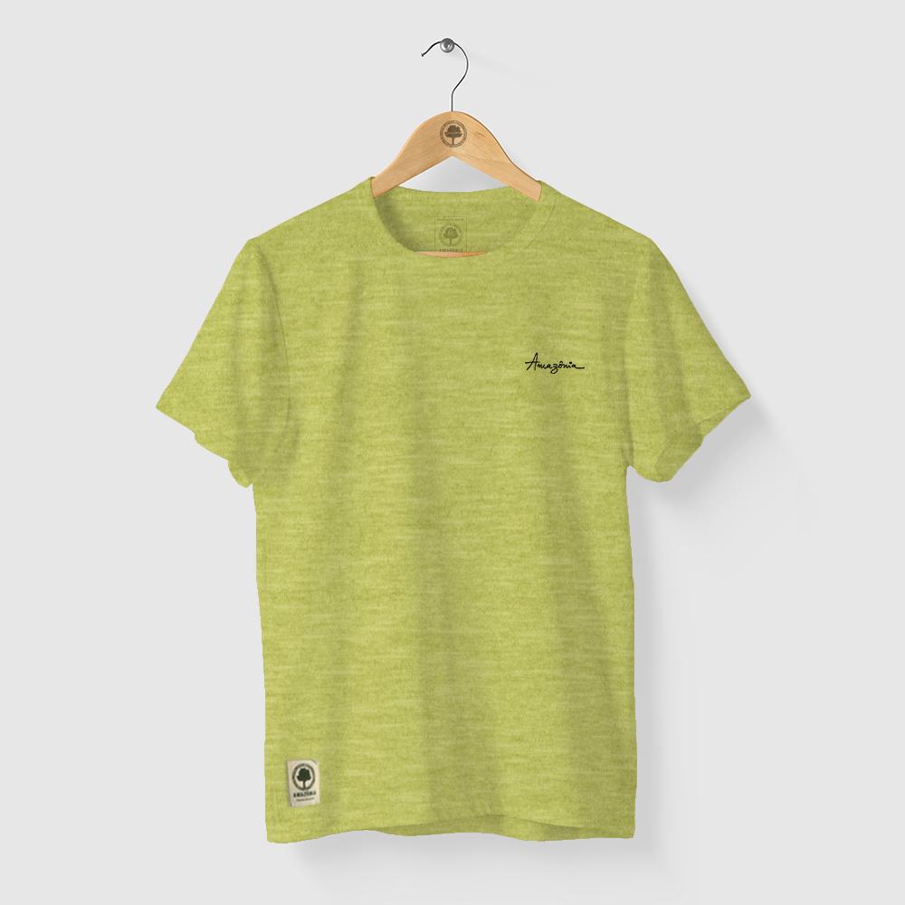 Camiseta Amazônia Zion - Mescla Amarelo