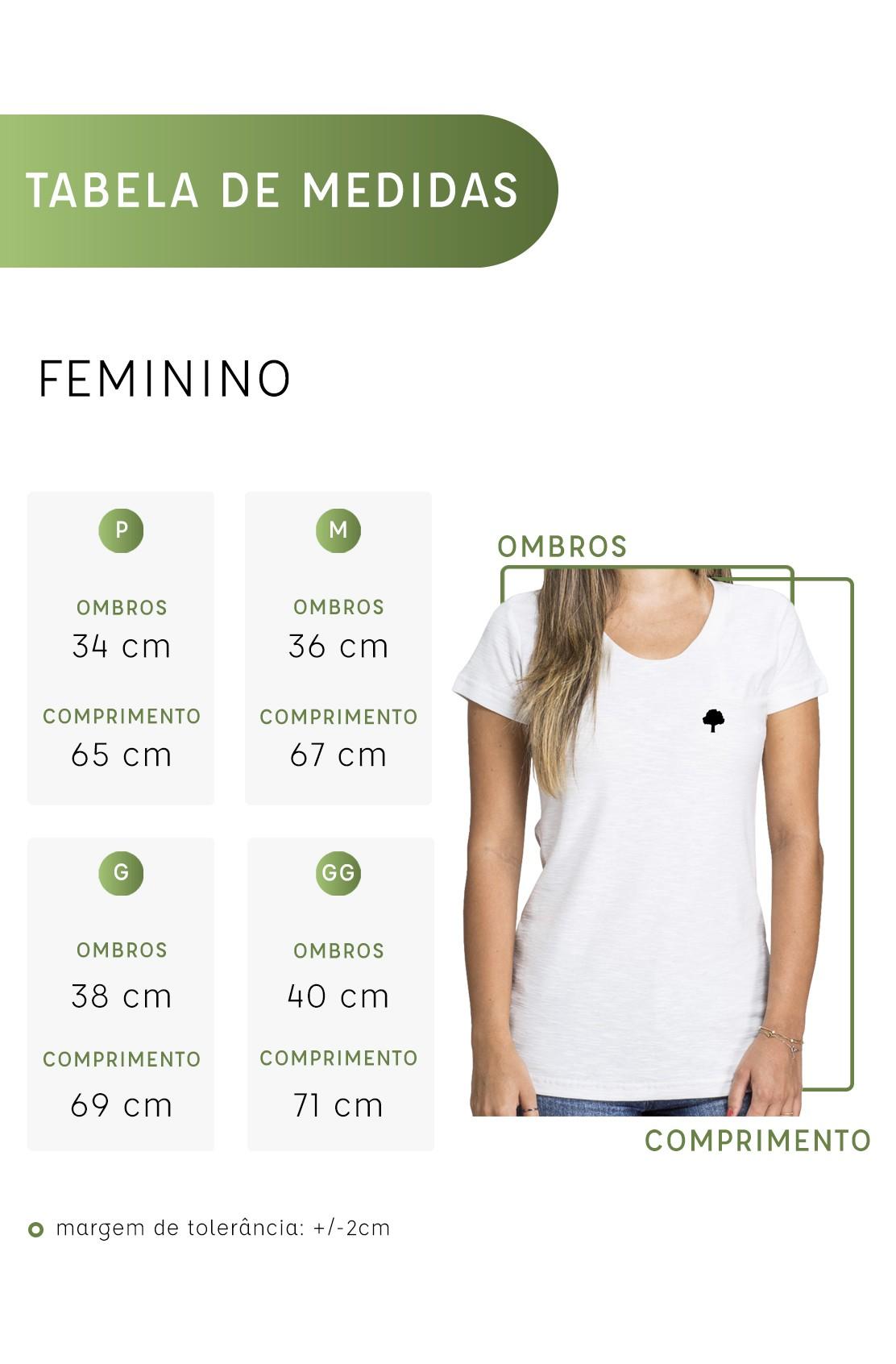 Polo Feminina Amazônia Árvore Bordada - Salmão