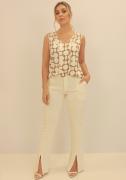 Blusa Com Cordas Off White