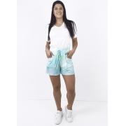 Shorts Feminino Malha com Estampa Tie Dye Cós Elástico