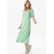 Vestido Feminino Malha Verde 3 Marias Decote Quadrado