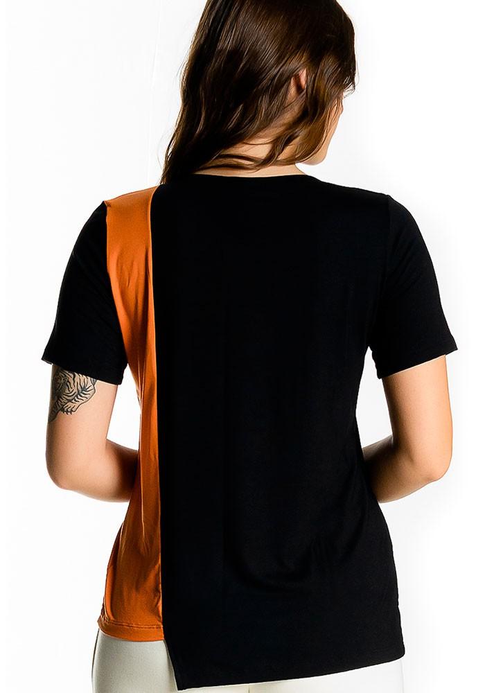 Blusa Bicolor com manga