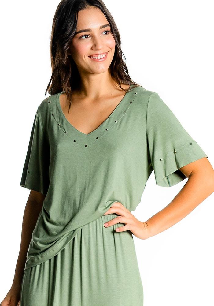 Blusa Com Tachas Verde