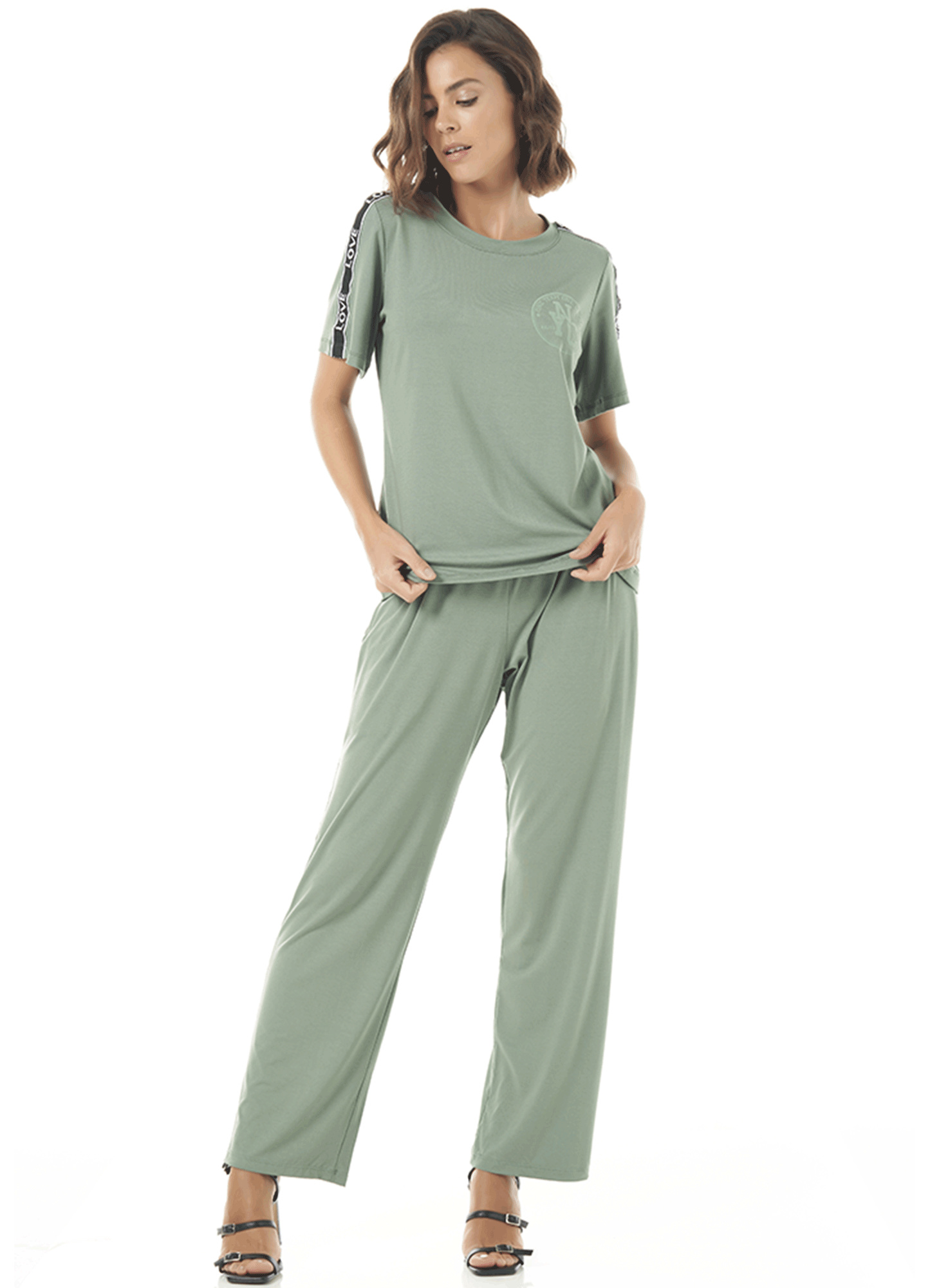 Conjunto Feminino Malha Slim Verde