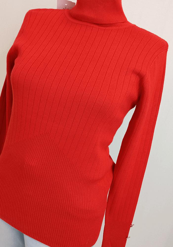 Suéter Modal Com Fola e Botões Punho